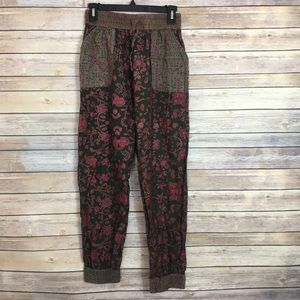 Pink and Olive Anthropologie Joggers
